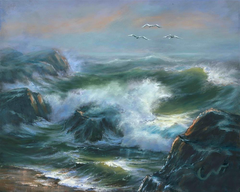 """Restless"" original fine art by Sharon Abbott-Furze"