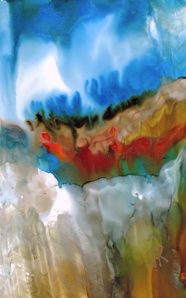 """Dreamscape No. 626"" original fine art by June Rollins"