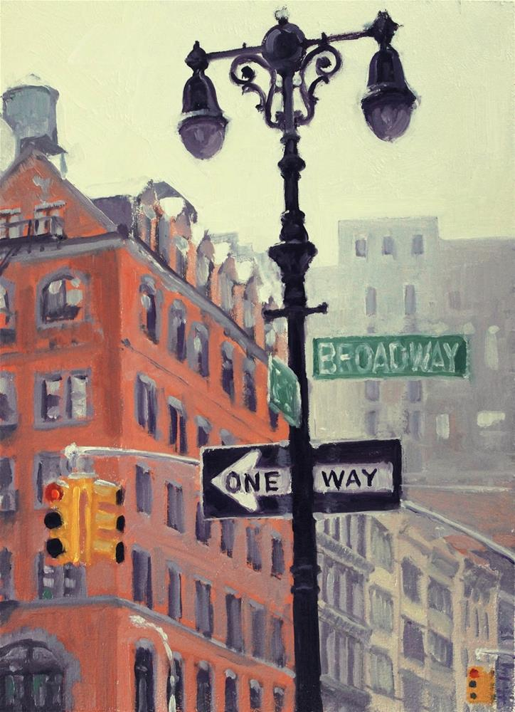 """Broadway and 23rd"" original fine art by Ski Holm"