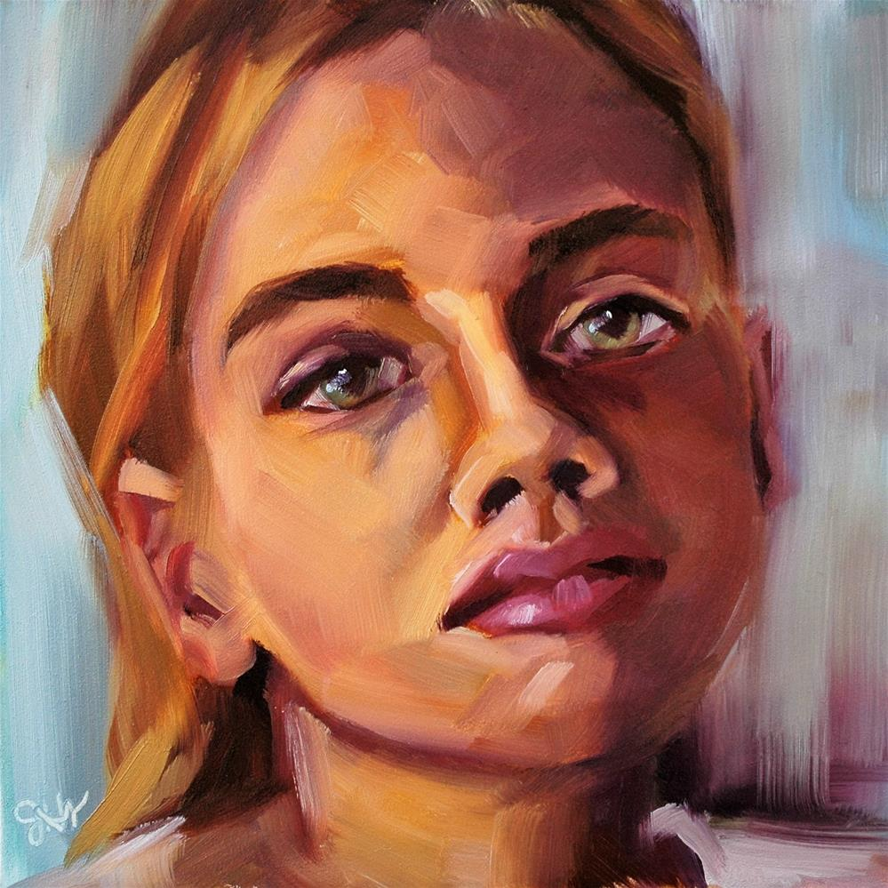 """Defiant"" original fine art by Janette Harter"