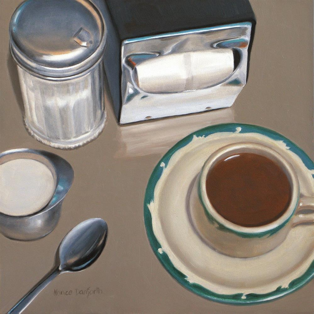 """Cream and Sugar?"" original fine art by Nance Danforth"