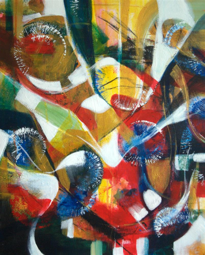 """Blue flowers 2"" original fine art by Zuzana Petrakova"