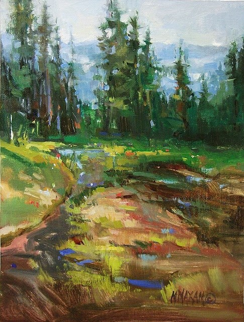 """Spring Thaw, Rainier Nat. Park"" original fine art by Mary Maxam"
