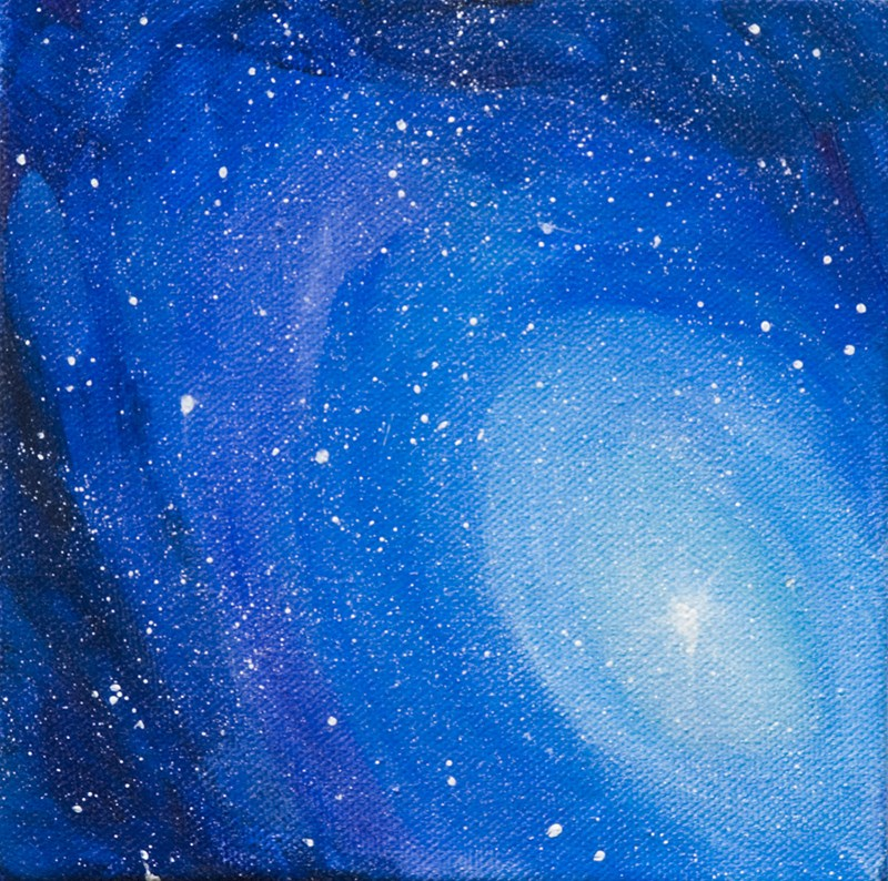 """Nebula"" original fine art by Yulia Kazansky"