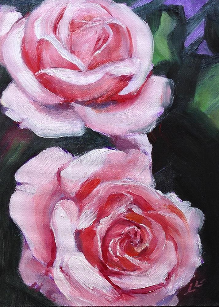 """Pretty in Pink"" original fine art by Linda Lowery"