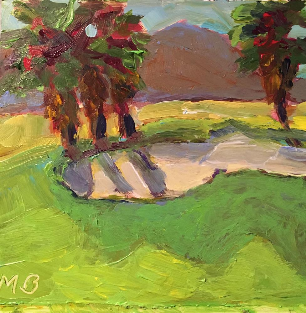 """Par for the Course"" original fine art by Marcia Bergtholdt"