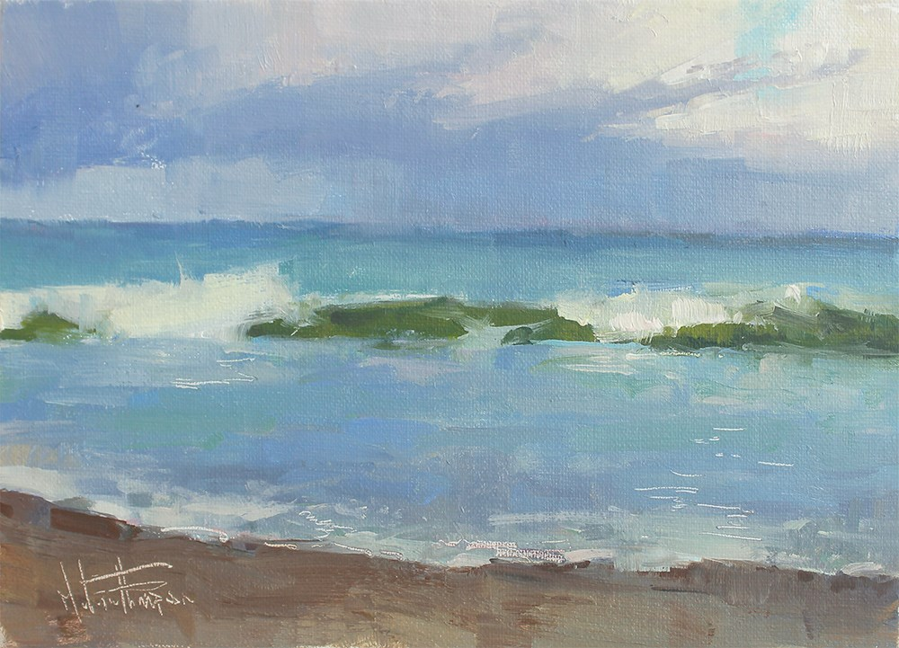 """Florida Shores"" original fine art by Melanie Thompson"