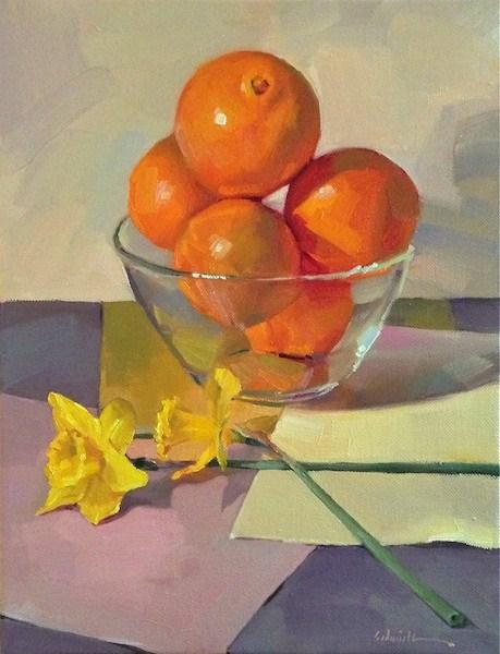 """Crossed Daffodils"" original fine art by Sarah Sedwick"