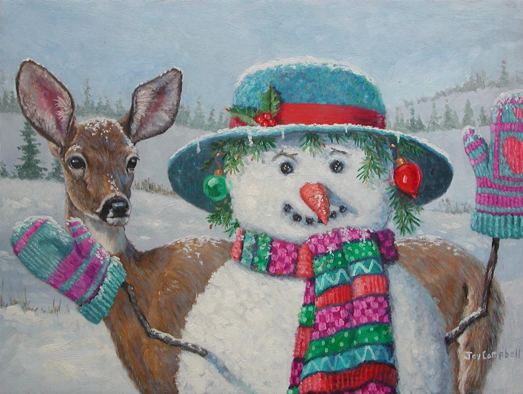"""Dear Snow Woman"" original fine art by Joy Campbell"