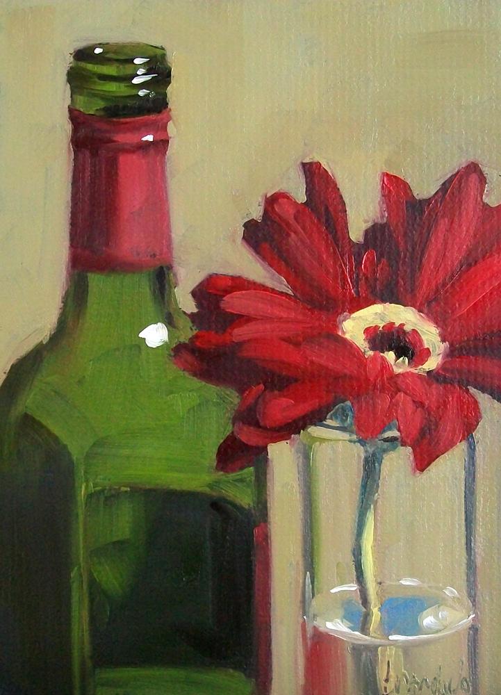 """wino daisy"" original fine art by Brandi Bowman"