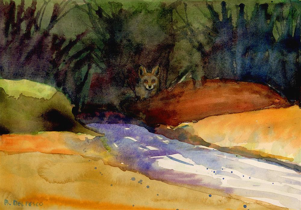 """""""Watercolor: Woodlands (& an Exhibit at True North Gallery)"""" original fine art by Belinda Del Pesco"""