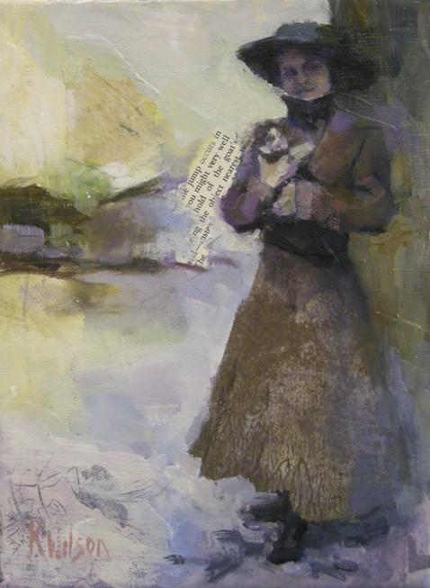 """Hangin with Kitty"" original fine art by Katie Wilson"