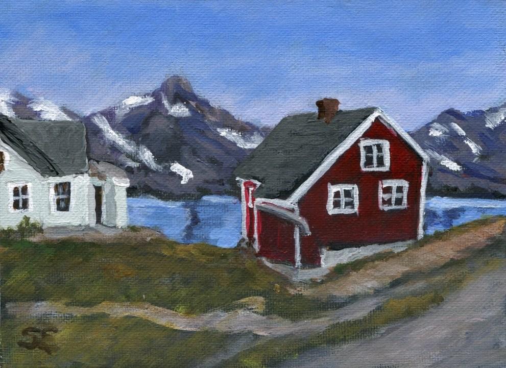 """""""Tasiilaq, Greenland"""" original fine art by Stanley Epperson"""