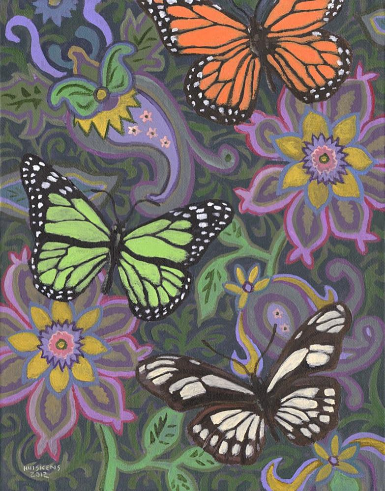 """Butterflies No. 2"" original fine art by Randal Huiskens"