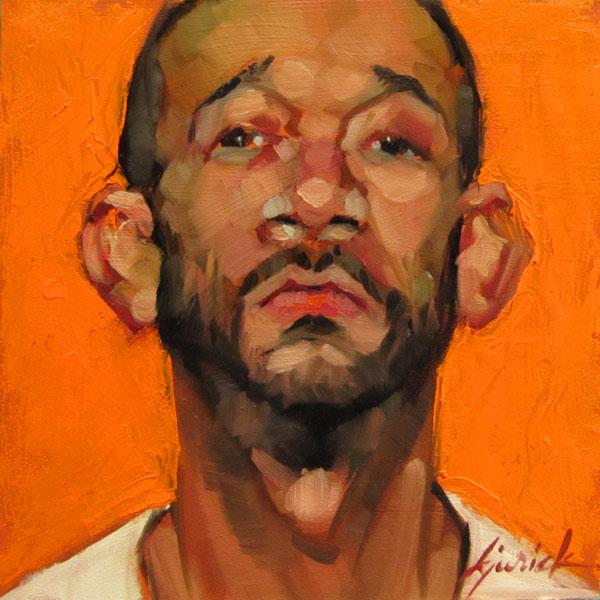 """100 Faces, No. 104"" original fine art by Karin Jurick"