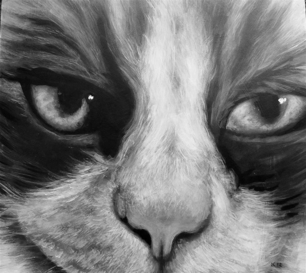 """Kat's Cat"" original fine art by Karen Roncari"