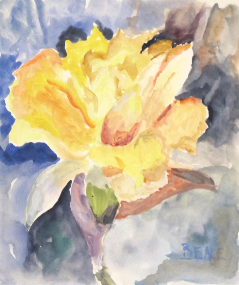 """""""Small Floral Painting"""" original fine art by  David Beale"""