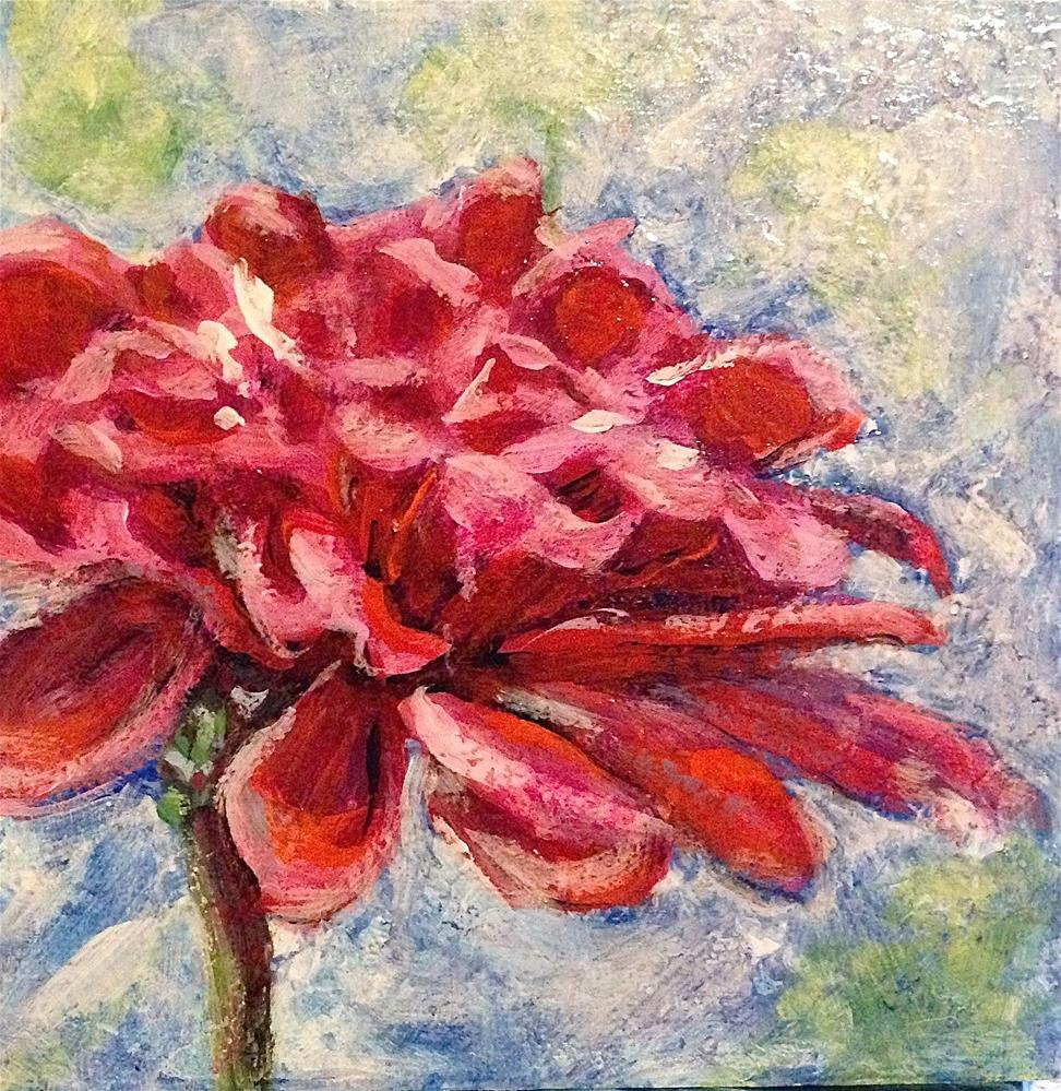 """Floral Layers"" original fine art by Debbie Yacenda"