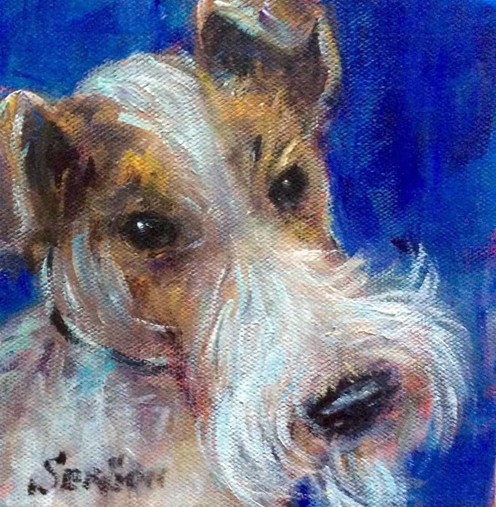 """""""Fox terrier"""" original fine art by Sonia von Walter"""