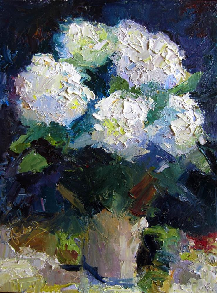 """Hydrangea Demo 2"" original fine art by Carol Steinberg"