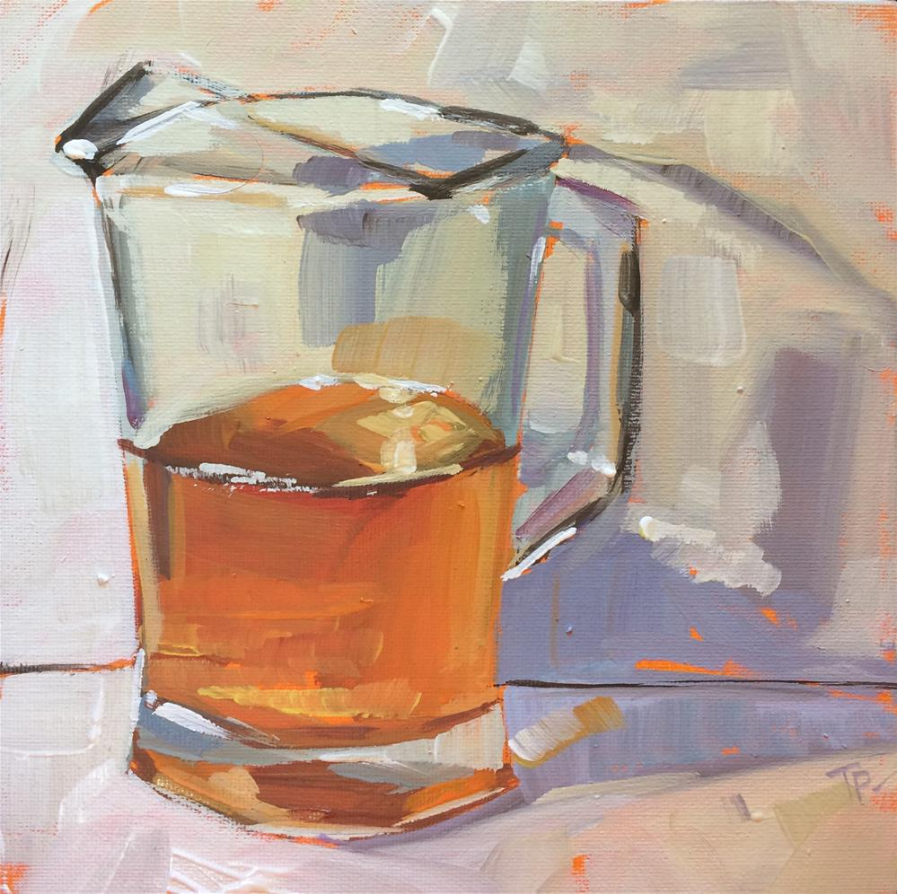 """Iced Tea"" original fine art by Teddi Parker"