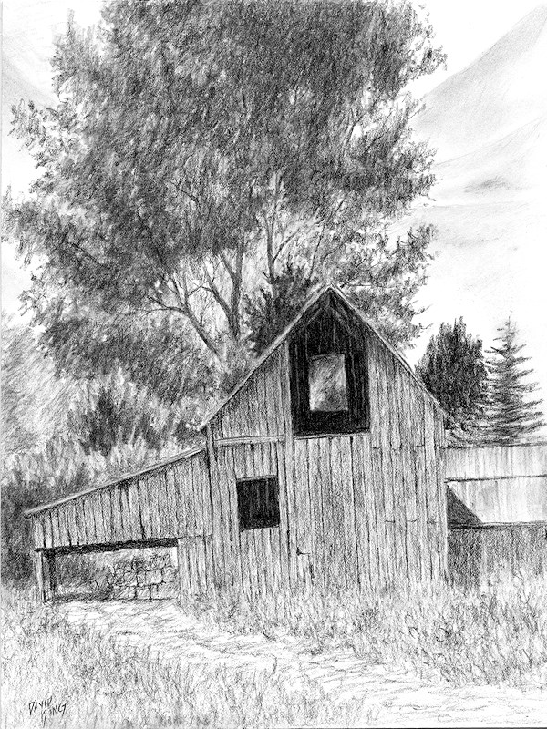 """Midway Barn"" original fine art by David King"