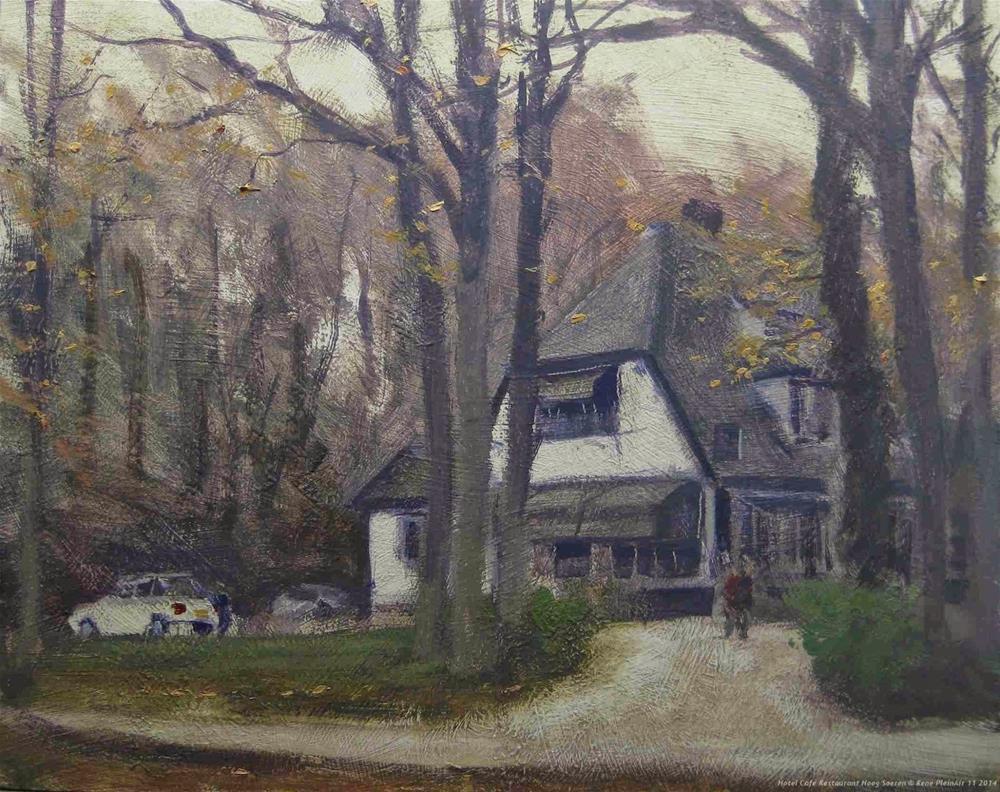 """Hotel Hoog Soeren The Netherlands"" original fine art by René PleinAir"