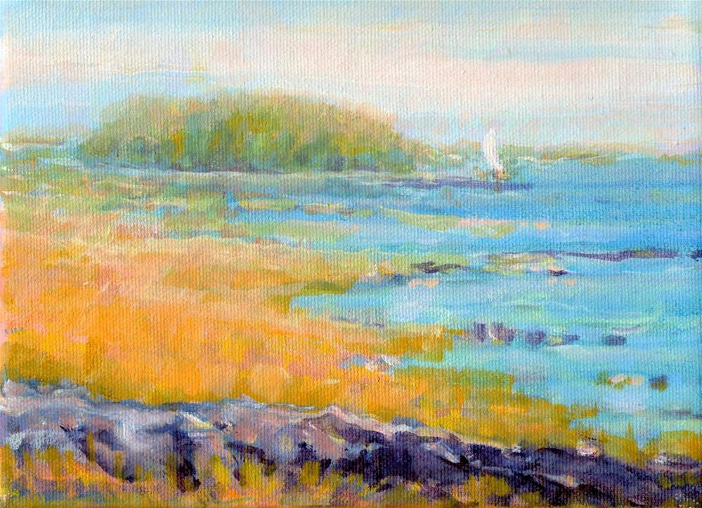 """Island Off Shore"" original fine art by J Kelsey"