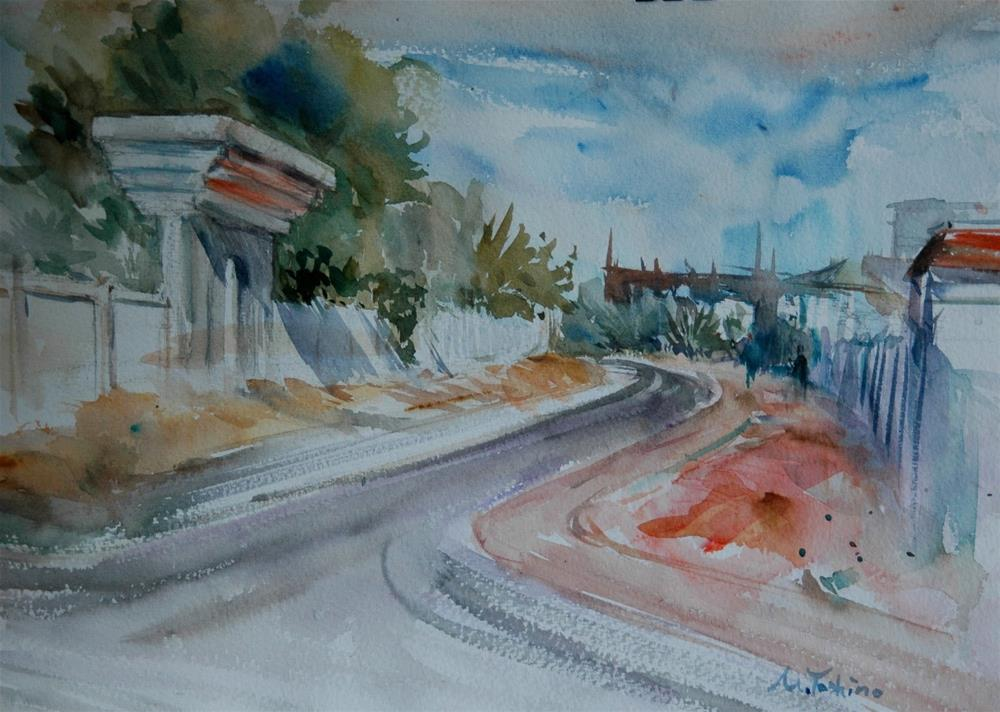 """Al Towaya area, Al Ain"" original fine art by Midori Yoshino"