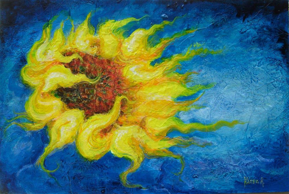 """Solar Flower"" original fine art by Karen Roncari"