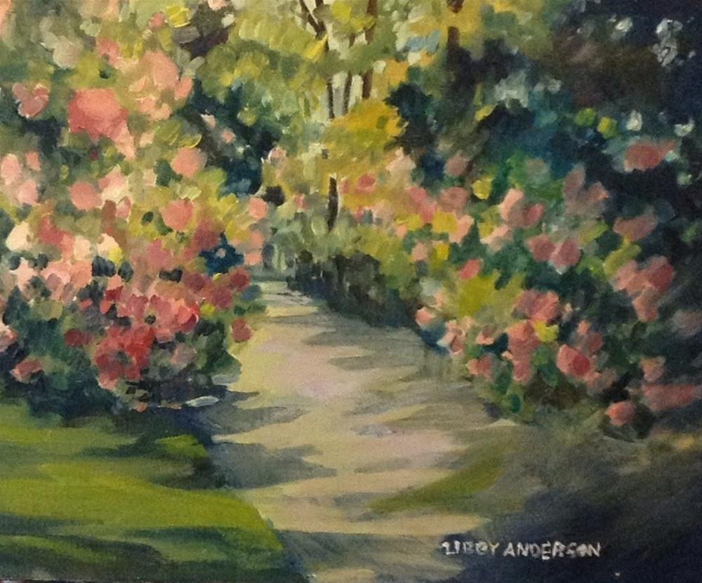"""Rhododendrons"" original fine art by Libby Anderson"