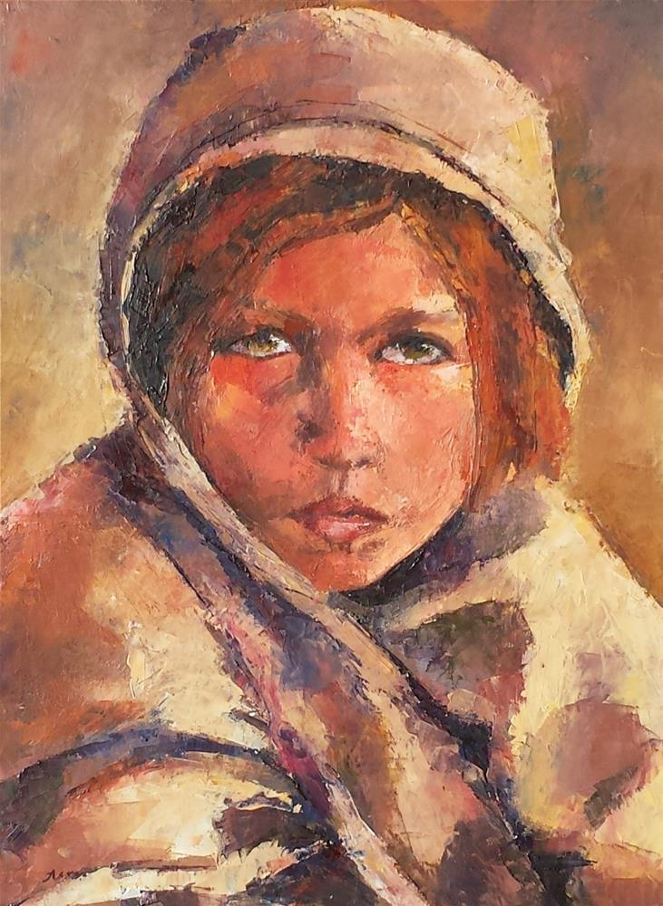 """Refugee"" original fine art by Nava Judith"