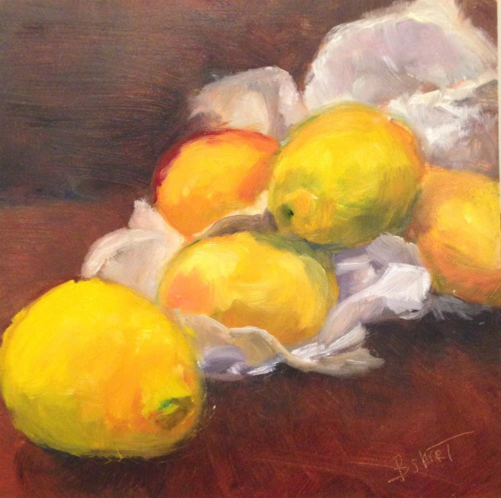 """day7; lemons"" original fine art by Brenda Short"
