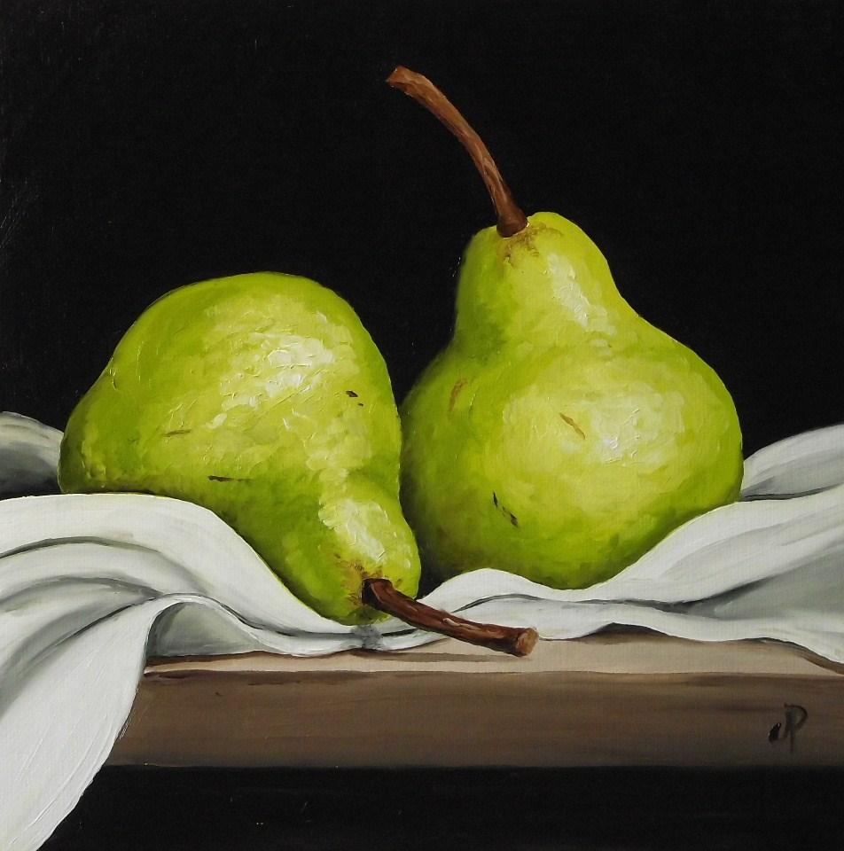 """Two Pears"" original fine art by Jane Palmer"