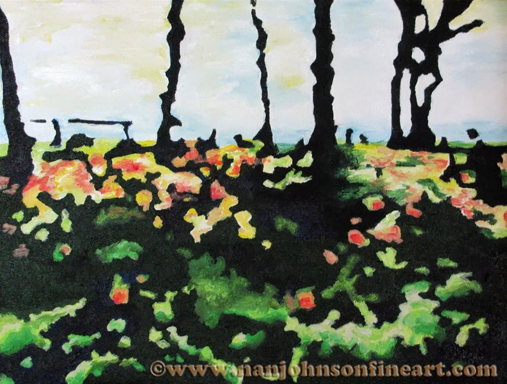 """Battery Park"" original fine art by Nan Johnson"