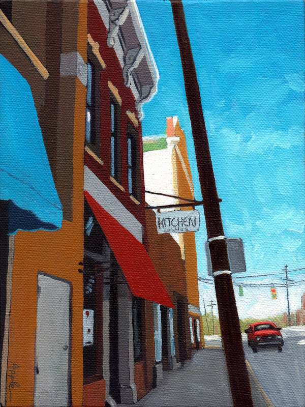"""The Kitchen- cityscape"" original fine art by Linda Apple"