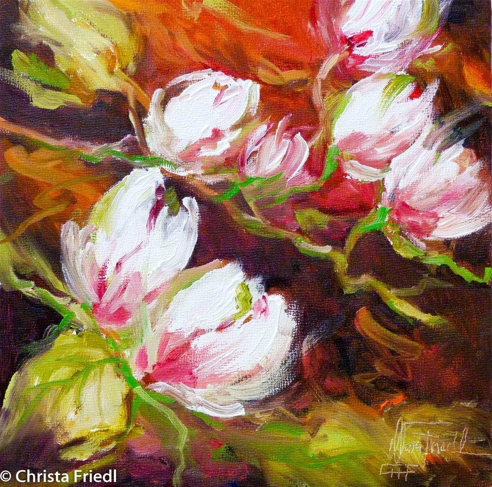 """Magnolia"" original fine art by Christa Friedl"