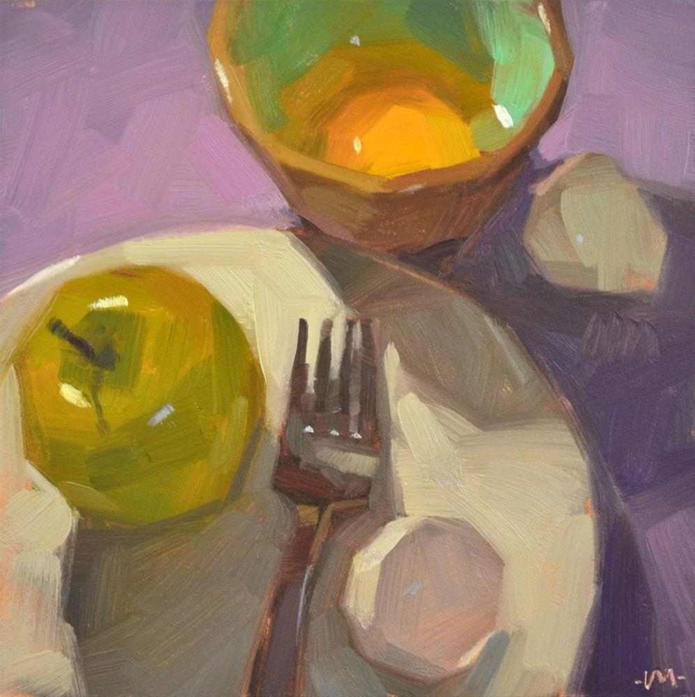 """Egg Apple Diet"" original fine art by Carol Marine"