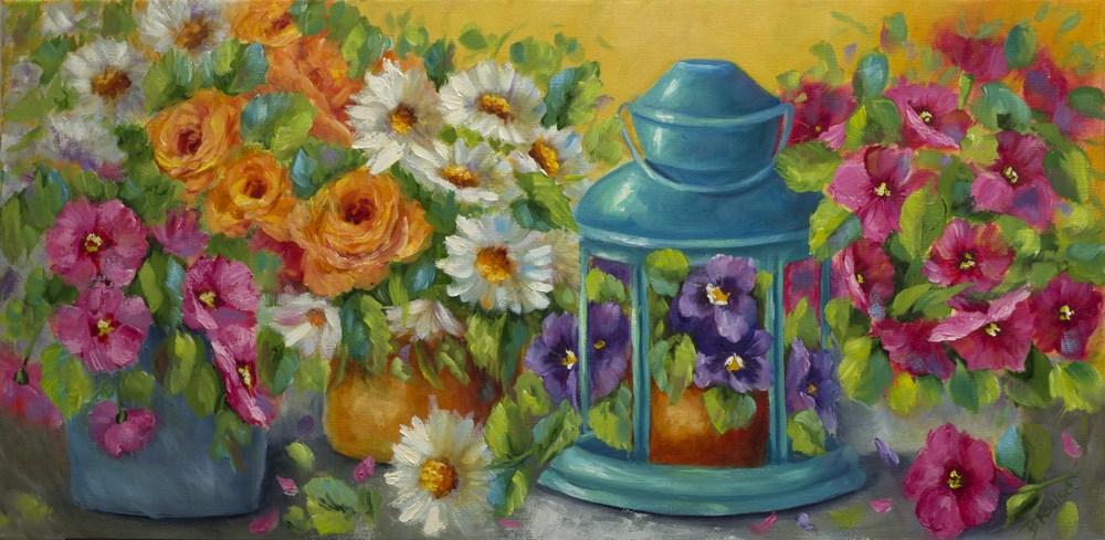 """""""Spring Gardening Joy"""" original fine art by Bobbie Koelsch"""