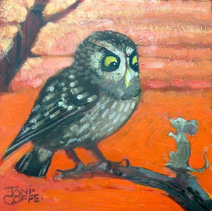 """""""Early Breakfast ?"""" original fine art by Toni Goffe"""