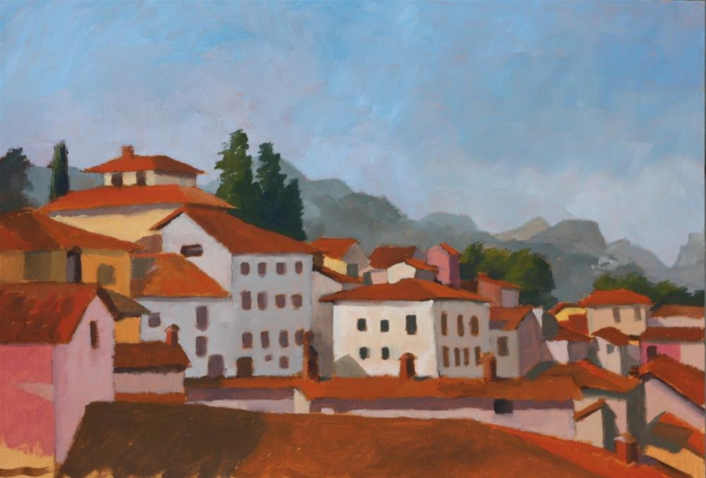 """Morning light, Barga"" original fine art by Graham Townsend"