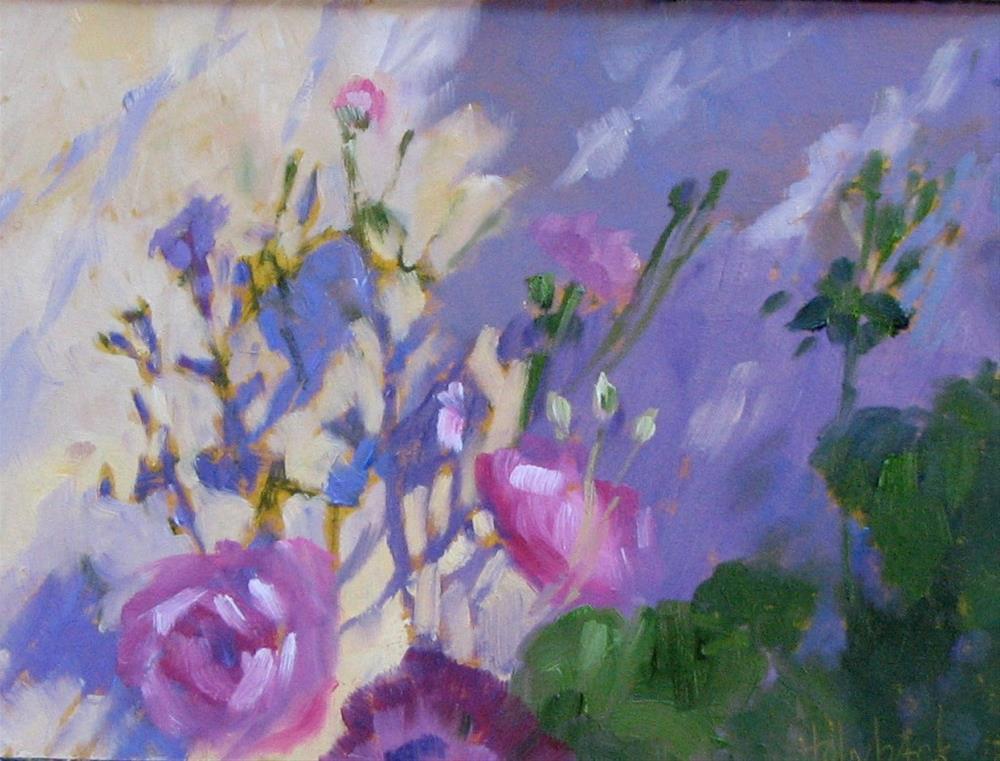 """Garden Wall"" original fine art by Pam Holnback"