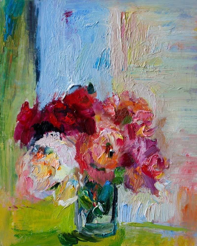 """""""Garden Roses"""" original fine art by Anna  Fine Art"""