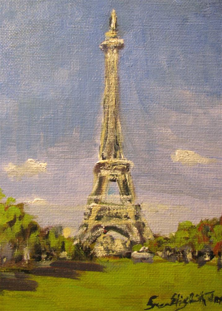"""Autumn in Paris"" original fine art by Susan Elizabeth Jones"