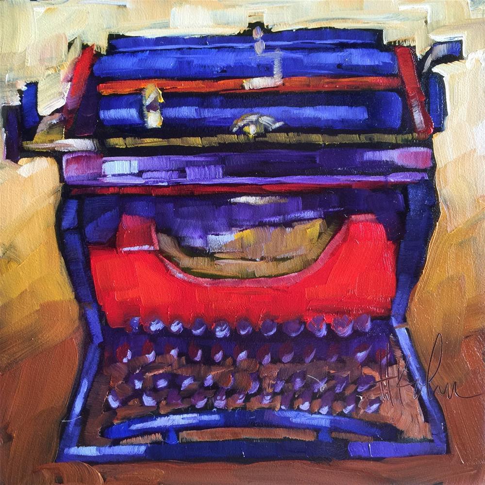"""Typewriter III"" original fine art by Hallie Kohn"