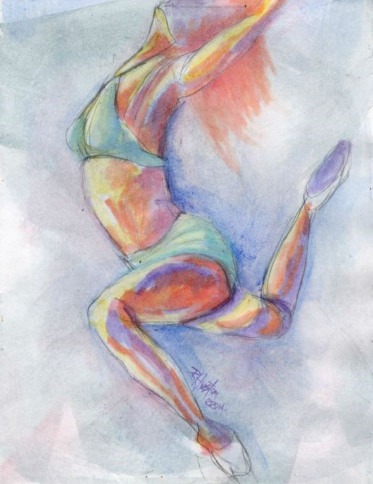 """Dance 13, the hidden language"" original fine art by Richard Huston"