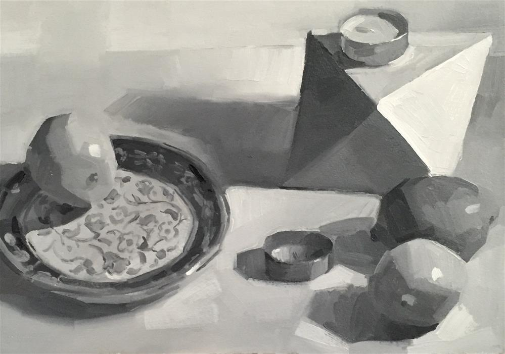 """White Object, Lemons (Sketch)"" original fine art by Sarah Sedwick"