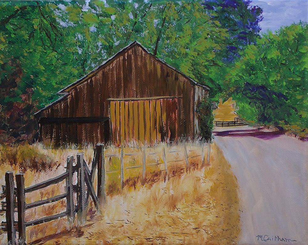 """Old Barn Sonoma County"" original fine art by Mike Caitham"