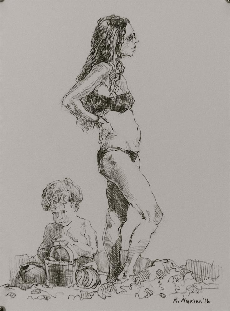 """hanasketching12"" original fine art by Katya Minkina"