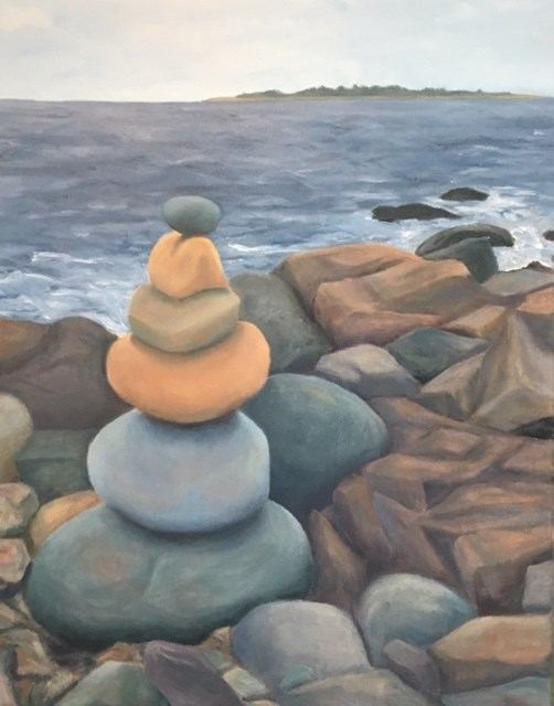 """Cairn"" original fine art by Karen Collins"